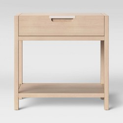 Porto Nightstand with Drawer Bleached Wood - Project 62™