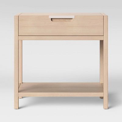 Bon Porto Nightstand With Drawer Bleached Wood   Project 62™ : Target