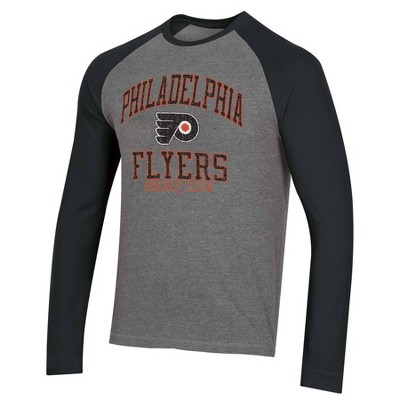 NHL Philadelphia Flyers Men's Long Sleeve Raglan T-Shirt - M