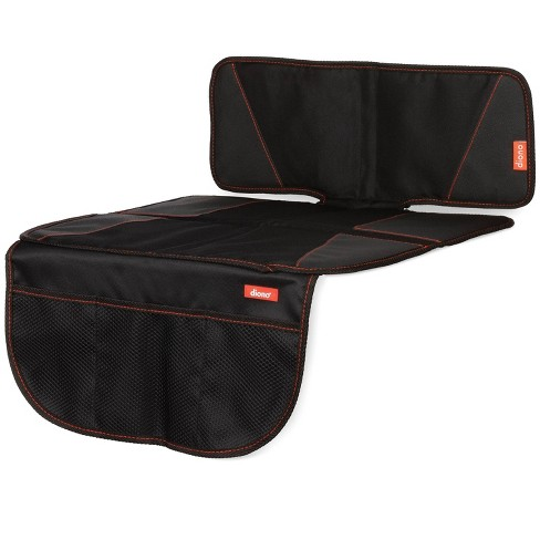 Diono Super Mat Car Seat Protector for Under Car Seat Includes 3 Mesh Storage Pockets Crash Tested - Black - image 1 of 4