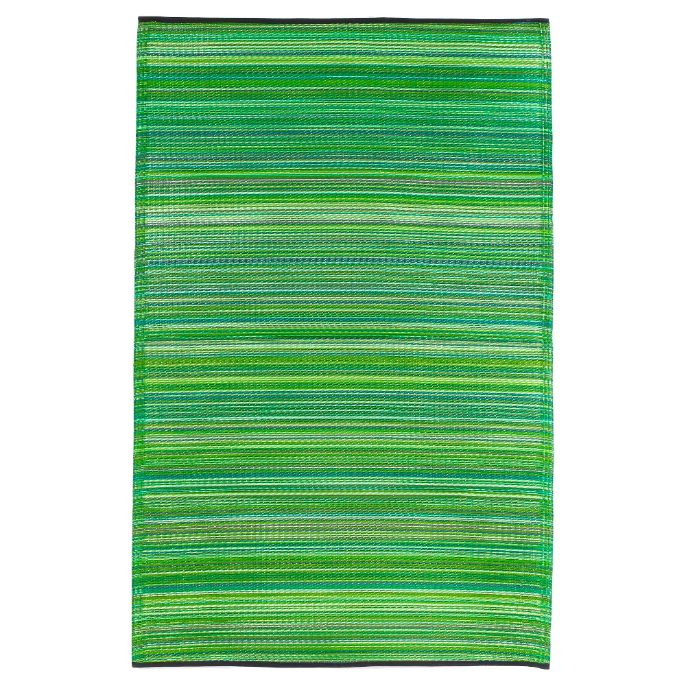 Image of Fab Habitat Outdoor Rug(3' x 5') - Cancun Green, Size: 3'X5'