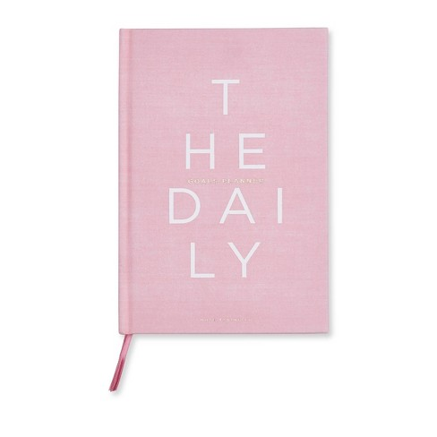 """Undated Daily Planner 8.5""""x 5.75"""" Pink - West Emory - image 1 of 2"""