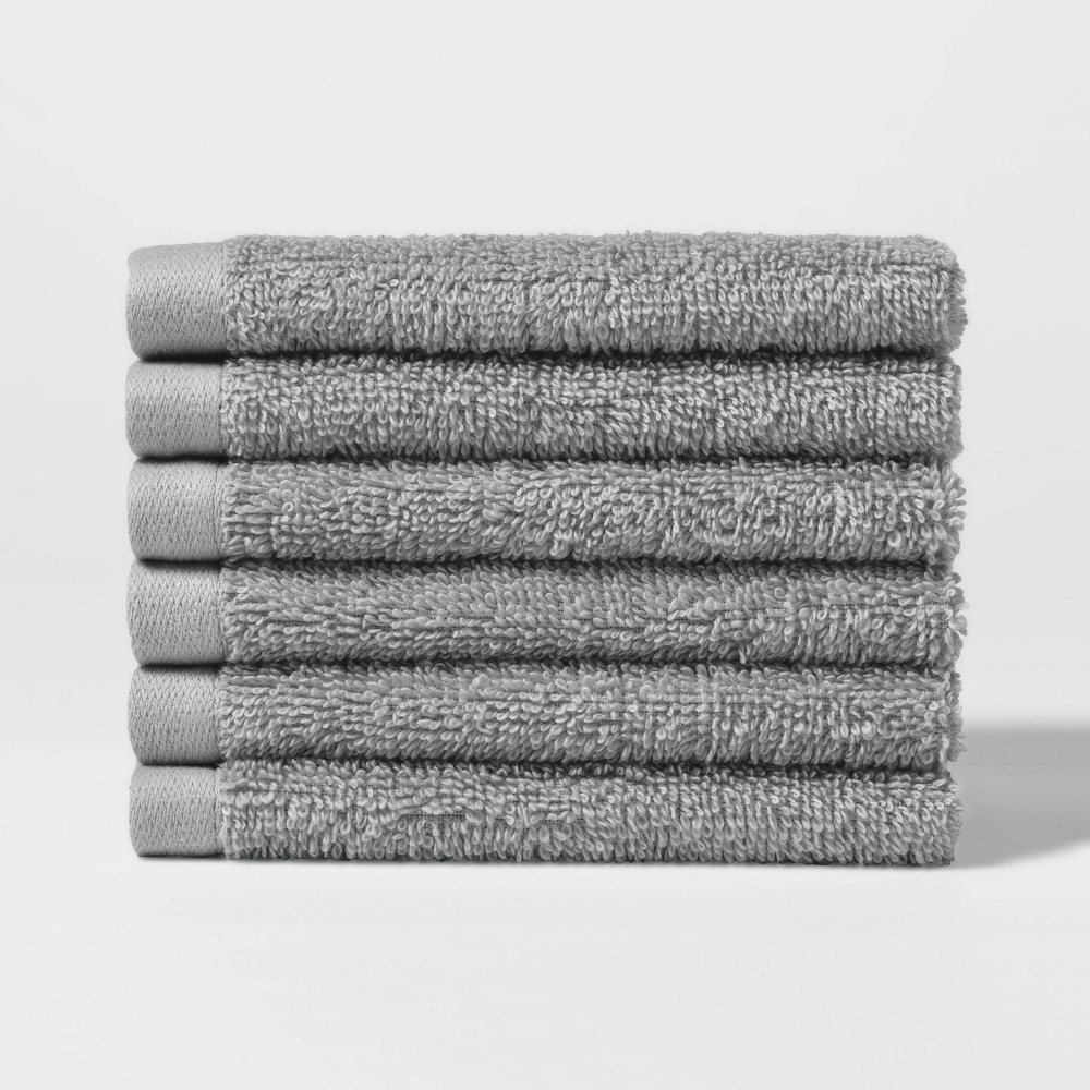 Best Price 6pk Washcloth Set Gray Room Essentials