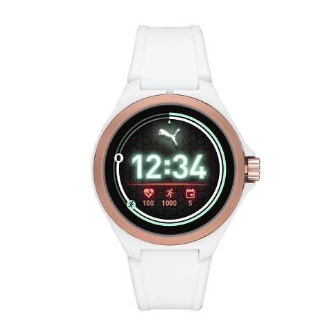 PUMA Smartwatch 44mm - White with White Silicone - image 1 of 4