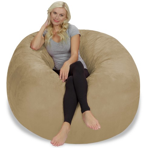5' Large Bean Bag Chair with Memory Foam Filling and Washable Cover - Relax Sacks - image 1 of 4
