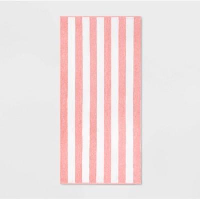 Cabana Striped Beach Towel Red - Sun Squad™