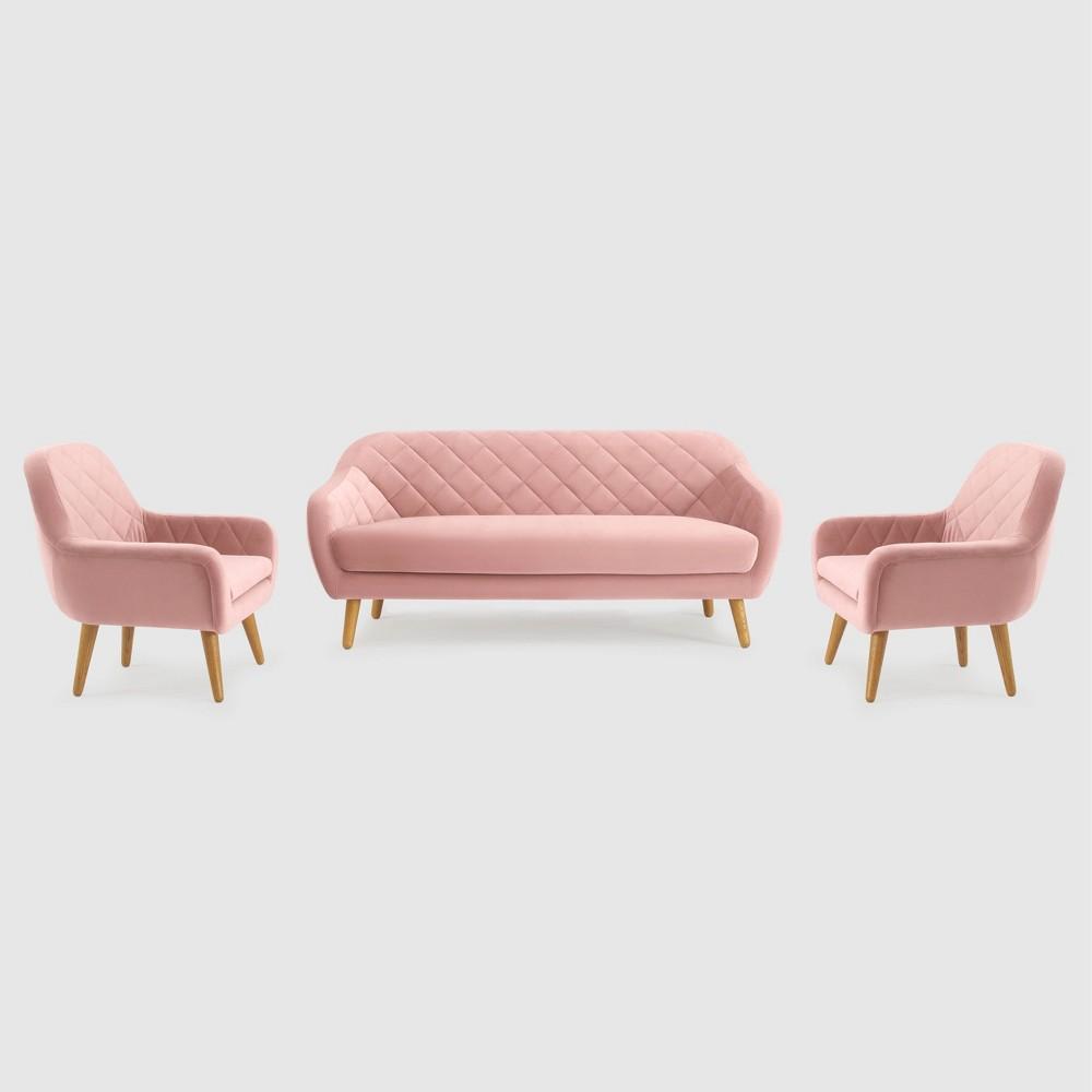 Image of 3Pc Isobel Seating Set Blush Pink - RST Brands