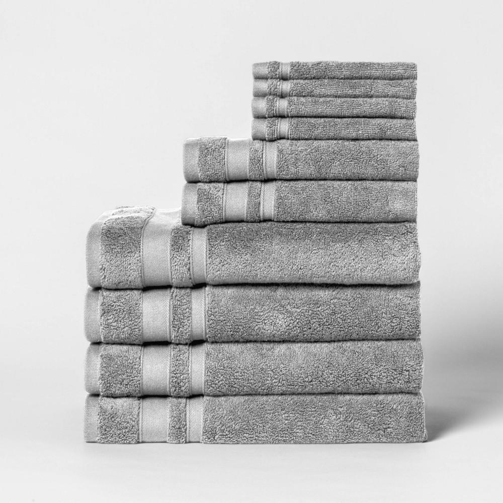 Image of 10pk Towel Set Classic Gray - Threshold