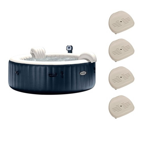 Intex Pure Spa 6 Person Portable Outdoor Bubble Jets Hot Tub & Seats (4 Pack) - image 1 of 6
