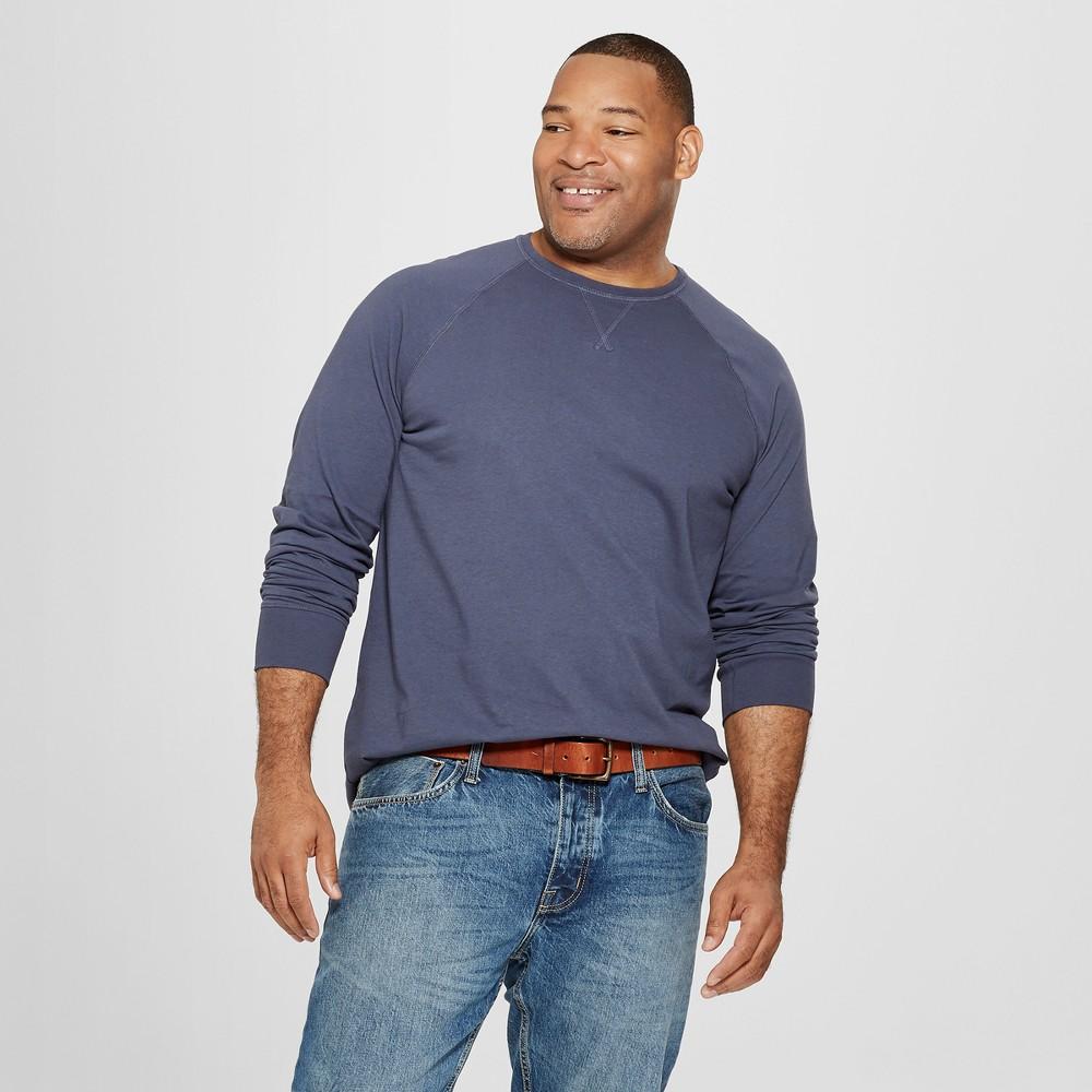 Men's Big & Tall Long Sleeve T-Shirt - Goodfellow & Co Geneva Blue 5XB
