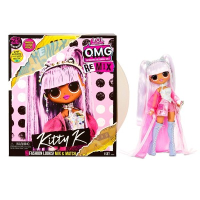L.O.L. Surprise! O.M.G. Remix Kitty K Fashion Doll – 25 Surprises with Music
