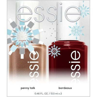 essie Holiday Duo Featuring Penny Talk And Bordeaux - 0.92 fl oz