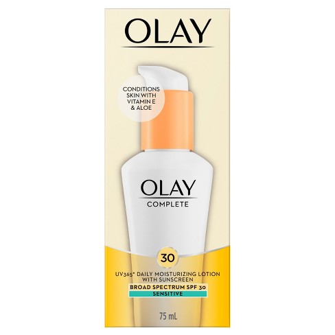 Unscented Olay Complete All Day Moisturizer with Broad Spectrum SPF 30 Sensitive - 2.5fl oz - image 1 of 4