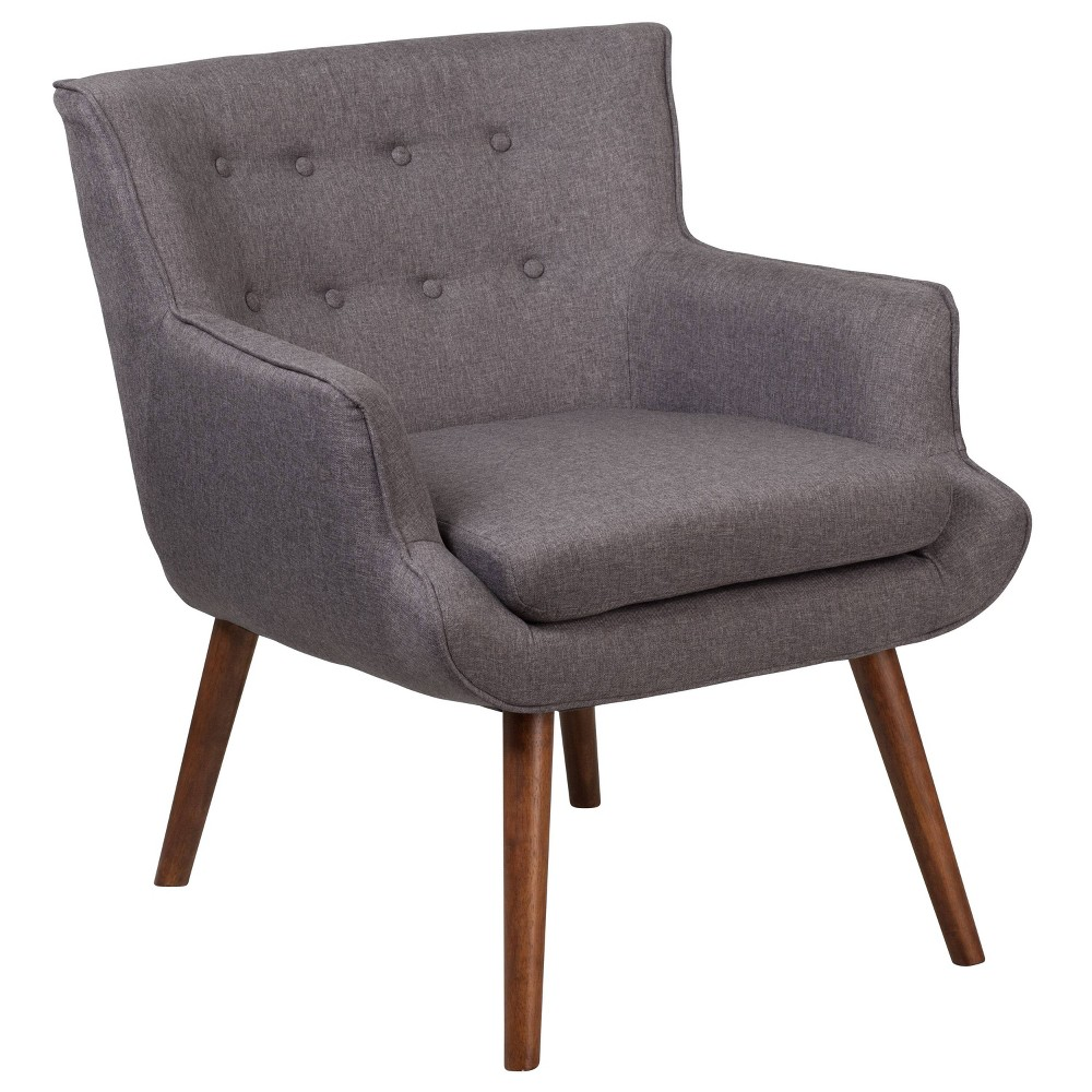 Hercules Hayes Tufted Arm Chair Gray - Riverstone Furniture