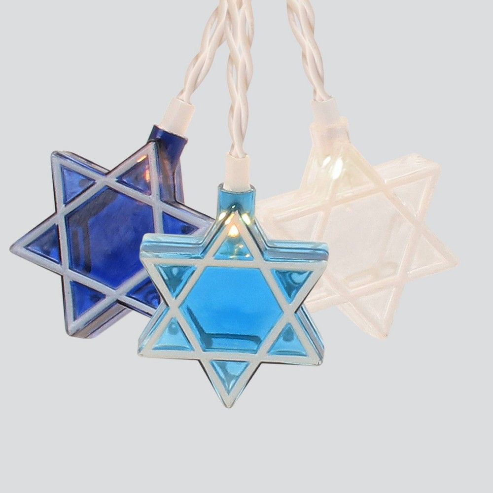 Image of Hanukkah Star of David Novelty Silhouette String Lights