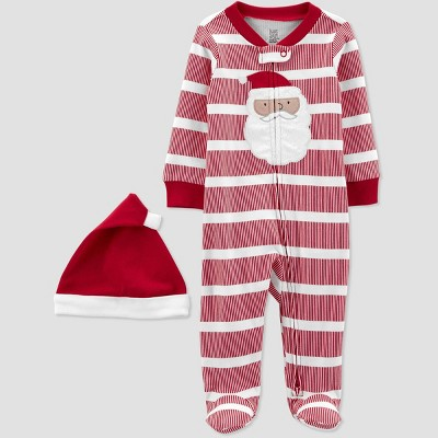 Baby Striped Santa Sleep N' Play - Just One You® made by carter's White/Red Newborn