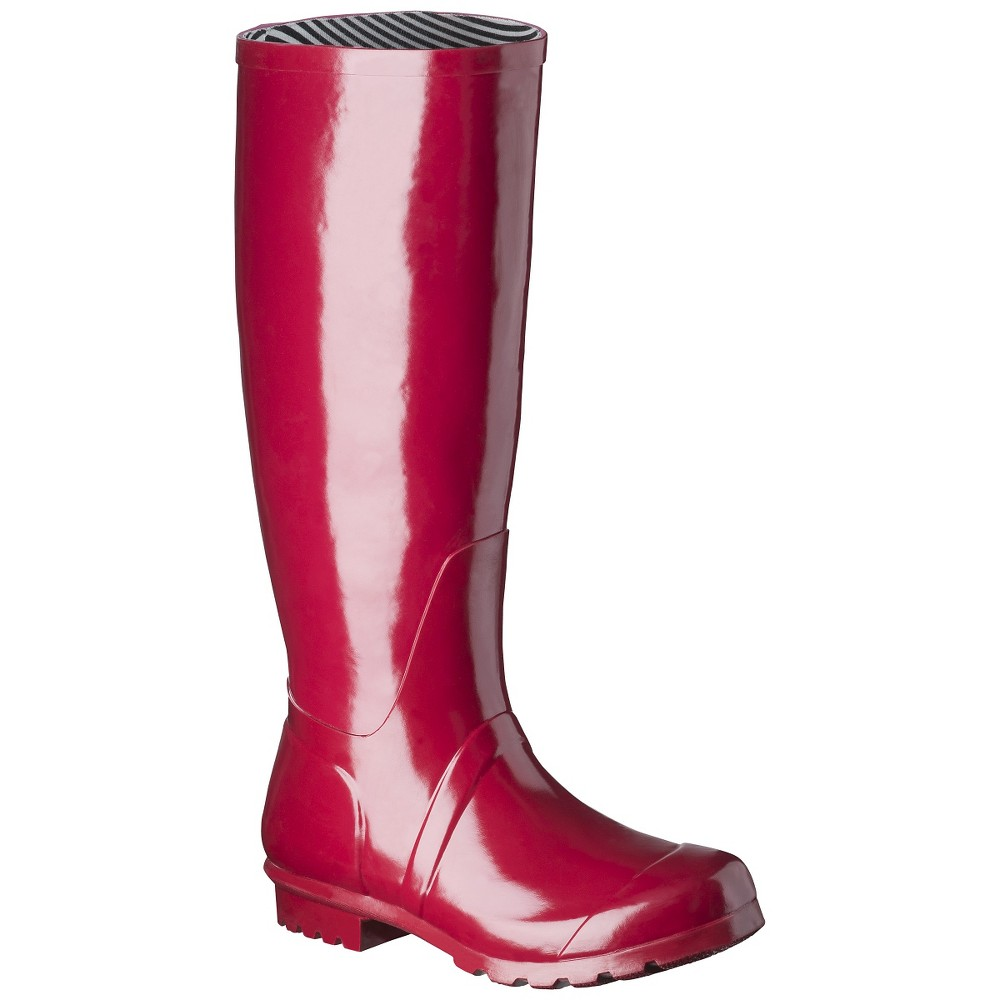 Women's Classic Tall Rain Boot - Red 10