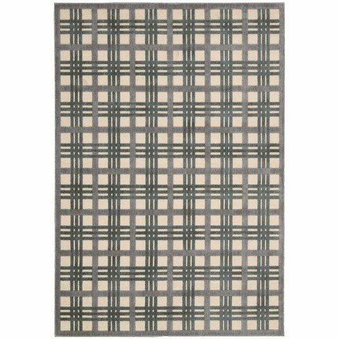 Nourison Graphic Illusions Ivory/Taupe Area Rug - image 1 of 4