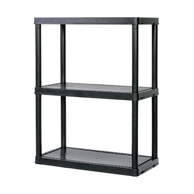 Gracious Living Light Duty Solid 12x24x33 Inch Storage Shelving Unit, 3 Shelf