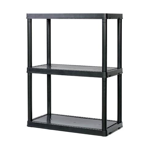 Gracious Living Light Duty Solid 12x24x33 Inch Storage Shelving Unit, 3 Shelf - image 1 of 3
