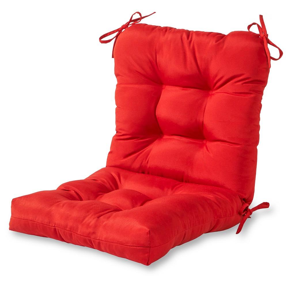 Solid Outdoor Seat Back Chair Cushion Kensington Garden