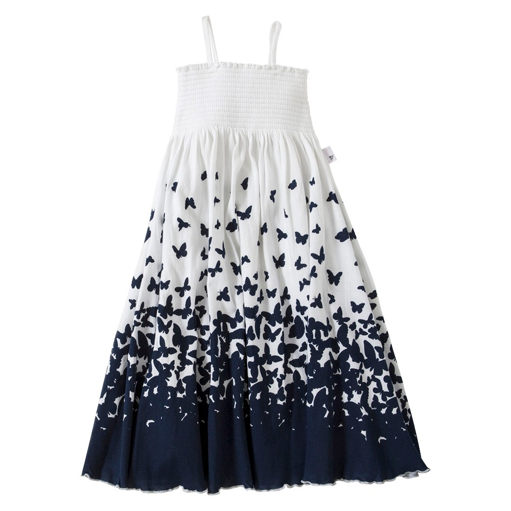 Toddler Girls' Butterfly Ombre Maxi Dress - White/Navy 2T, Cloud