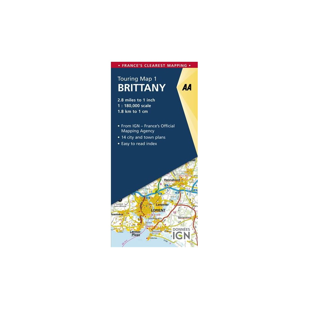 AA Touring Map Brittany - Map Mul (AA Touring Map) (Paperback)