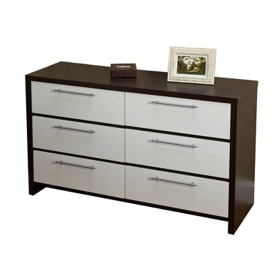 6 Drawer Chest White Espresso - Buylateral