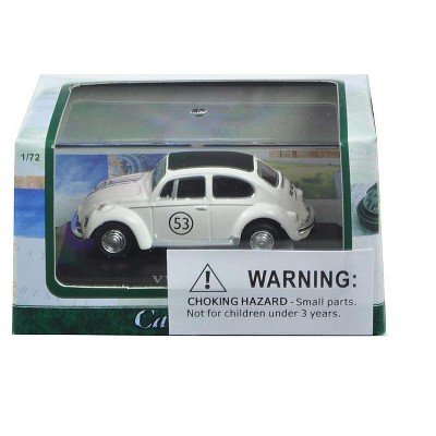 Volkswagen Beetle #53 White in Display Case 1/72 Diecast Model Car by Cararama