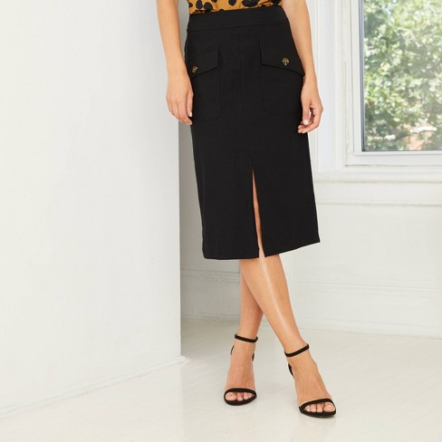 Women's A-Line Pencil Midi Skirt - Who What Wear™  - image 1 of 4