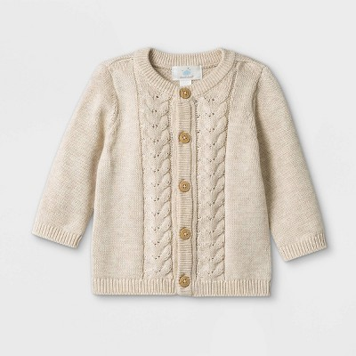Baby Basic Cardigan - Cloud Island™ Beige