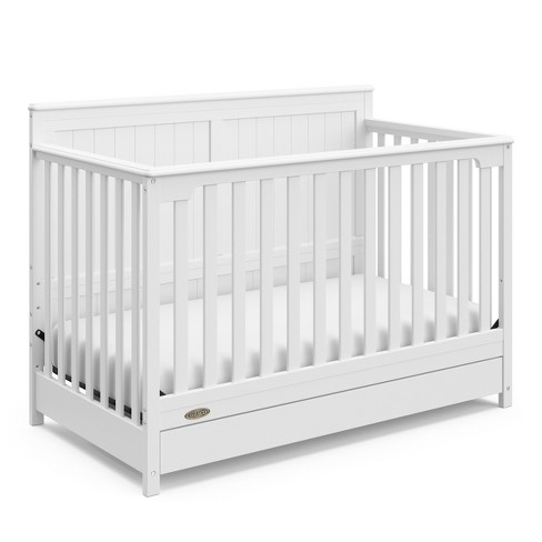 Graco Hadley 4-in-1 Convertible Crib with Drawer - White