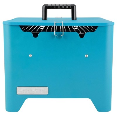 Permasteel Square Portable Charcoal Grill PG-40C10-TL - Teal