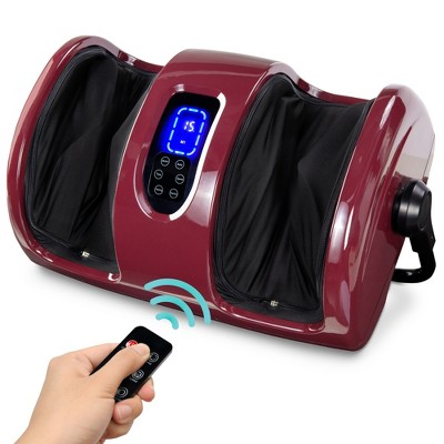 Best Choice Products Foot Massager Machine, Therapeutic Reflexology Massager w/ High-Intensity Rollers - Burgundy