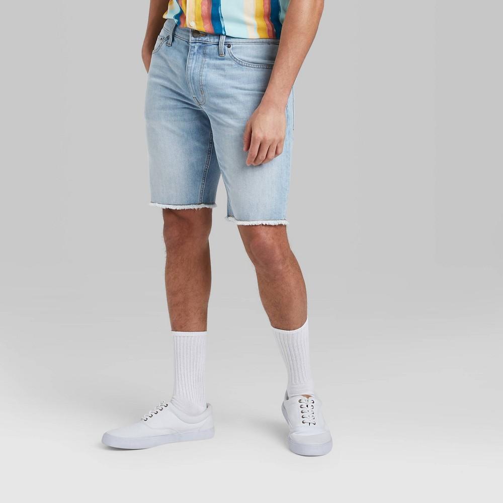 Men 39 S 10 5 34 Slim Fit Jean Shorts Original Use 8482 Light Blue 33