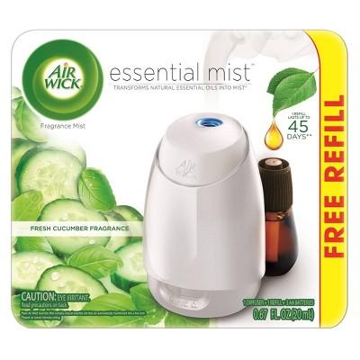 Air Wick Fresh Cucumber Fragrance Essential Mist With Free Refill - 0.67 fl oz