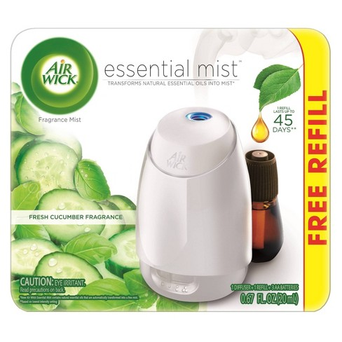 Air Wick Fresh Cucumber Fragrance Essential Mist With Free Refill - 0.67 fl oz - image 1 of 4