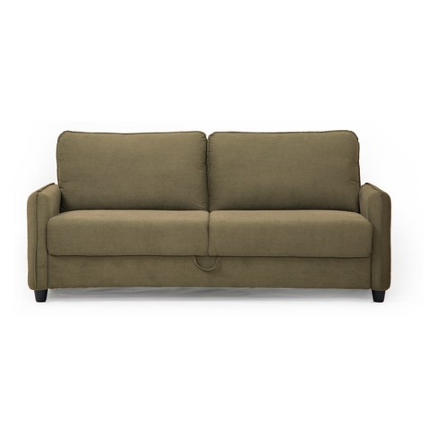 Sandy Microfiber Sofa With Storage In Taupe Lifestyle Solutions