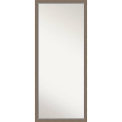 """27"""" x 63"""" Eva Framed Full Length Floor/Leaner Mirror Brown - Amanti Art"""