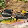 Bangor 3pc Metal Mesh & Faux Wood Patio Chat Set - Project 62™ - image 2 of 4
