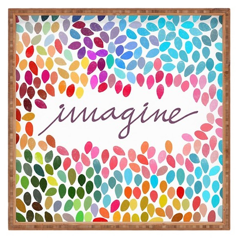 Garima Dhawan Imagine 1 Square Tray - Pink - Deny Designs® - image 1 of 1