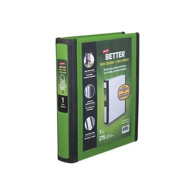 Staples Better Mini 1-Inch D 3-Ring View Binder Green (20943) 55905/20943