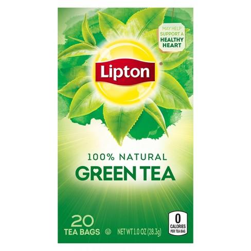 Lipton 100% Natural Pure Green Tea - 20ct - image 1 of 4