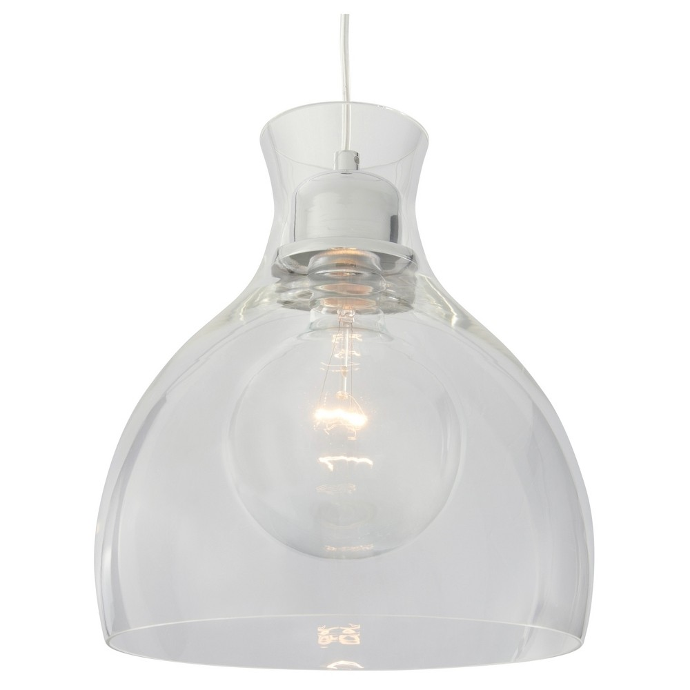"Image of ""11"""" Spinners 1 Light Mini Pendant with Clear Glass Shade Chrome - Varaluz"""