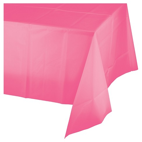 Candy Pink Disposable Tablecloth - image 1 of 2