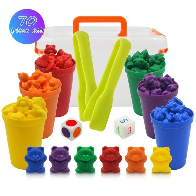 Templeton Educational Counting & Sorting Bears Kit, 70 Piece Super Value Set