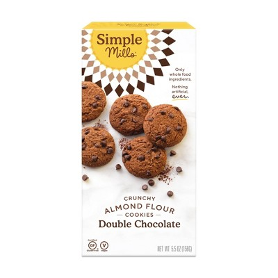 Simple Mills Crunchy Double Chocolate Cookies - 5.5oz