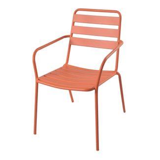 Metal Slat Patio Stacking Chair - Orange - Room Essentials™