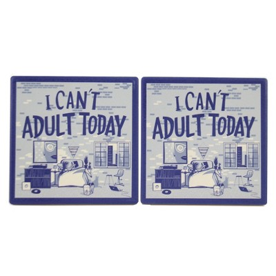 """Tabletop 3.75"""" I Can's Adult Today Coasters Absorbent Cork Backed Primitives By Kathy  -  Coasters"""