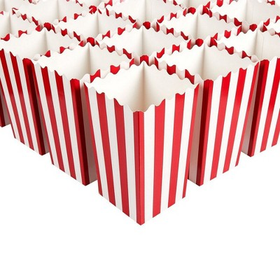 Movie Night Decorations, Popcorn Boxes (3 x 3.9 x 3 In, 100-Pack)